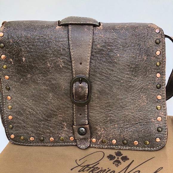 Patricia Nash Mantova Vintage Wash Leather Bag